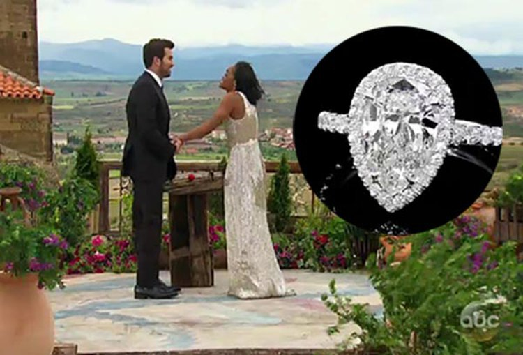 Rachel Lindsay Accepts 3-Carat Diamond Ring From Bryan Abasolo During 'Bachelorette' Finale