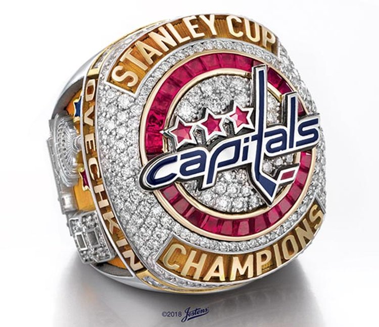 Washington Capitals' First-Ever Stanley Cup Ring Glitters With 10.2 Carats of Patriotic Pizzazz